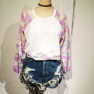 DANCEHOLIC Short Long Tee / White 3