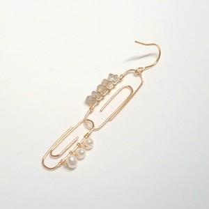 クリップピアス✧パール&ラブラドライト✧star bright jewelry