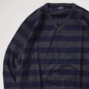 【Mサイズ】CHAPS チャップス V-Neck Sweater ブイネックセーター BWN ブラウン M 400604191122