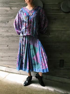 Diane freis floral floral silk dress ( ダイアン フレイス 花柄 シルク ワンピース )