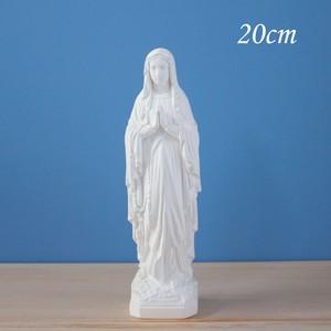 ルルドの聖母像【20cm】室内用白色仕上げ ※受注後約2週間で発送