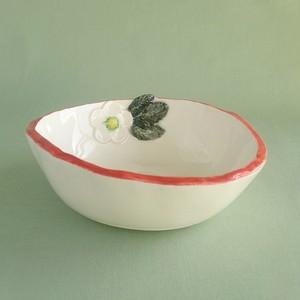 赤色イチゴ花小鉢