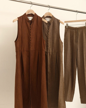 TODAYFUL トゥデイフル Herringbone Linen Vest ベージュ  12010422