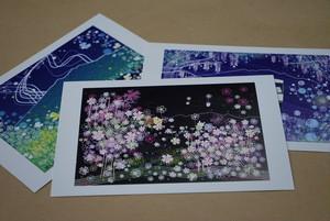 絵葉書 『北杜ファンタジー』 3枚セット ~グラフィックアートTiki&Puffyシリーズ~ 【清春旅と空想の美術館】