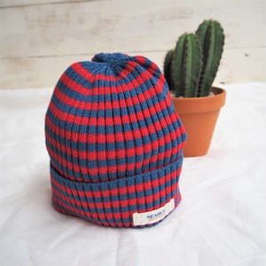SEARCH. Knit Cap 《RED&BLUE》