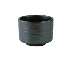 胴巻炭華ぐい呑型カップ黒〜土の温もりを感じる器〜