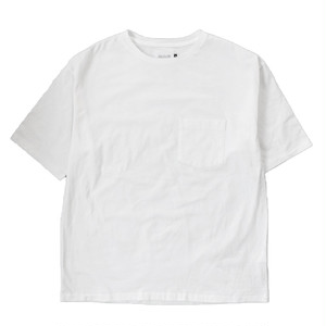 (CAL O LINE) SOLID COLOR POCKET S/S TEE