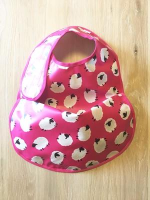 ★New★ osyokuji apron 【F】【pink / sleeping sheeps】