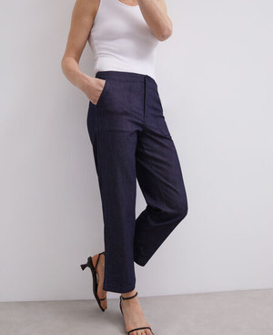 STRAIGHT TROUSERS IN WASHED COTTON [290051223102]
