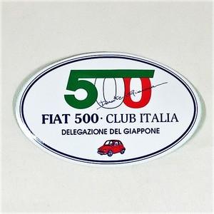 FIAT 500 CLUB ITALIA DELEGAZIONE DEL GIAPPONE【少量入荷】【1枚価格】【税込価格】