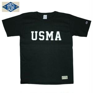 """NS102006 """"USMA"""" T1011 PRINT Tee / BLACK"""