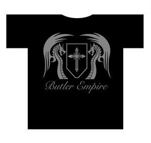 オリジナル黒Tシャツ【バトラー帝国通常ver1】UVカット・ドライ仕様