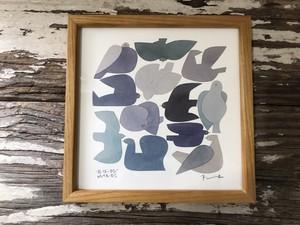 BIDRDS'WORDS poster20 blue bird バーズワーズ フレーム&ポスター 額装タイプ