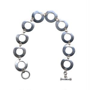 Vintage Mexican Ring Plate Link Bracelet