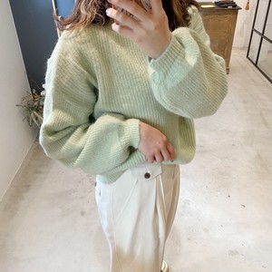 《新色》mint knit ニット/タートルニット/ミントカラー/アースカラー/長袖ニット/パステルニット