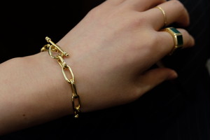 R.ALAGAN CLASSIC CHAIN BRACELET/GOLD
