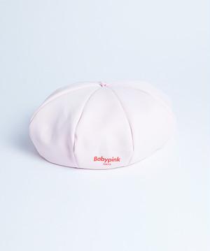 Logo Print Beret Cap Pink