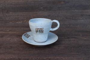 コーヒーカップ&ソーサー(点々)