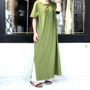 Tee Dress・Long/TEA GREEN