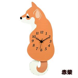 【柴犬】振り子時計(赤柴)【壁掛け時計】