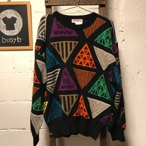 Gran Signore triangle pattern knit tops