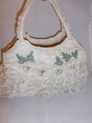 レースビィンテージバック lacework vintage bag (made in Japan)(No1)