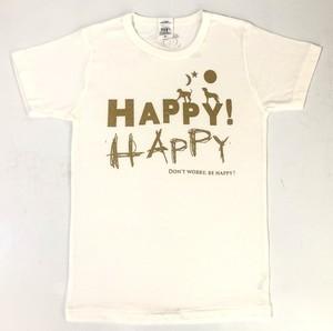 HAPPY HAPPY Tシャツ(ホワイト)