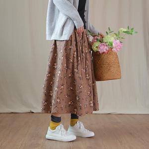 花柄コットンギャザースカート C0511