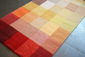 35 COLOR-BLOCK HANDMADE FLOOR RUG