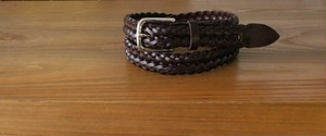 Whitehouse Cox 28mm PLAITED BELT DARK BROWN