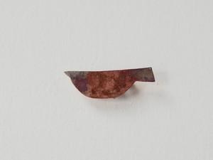 トリのブローチ(銅/焦がし)