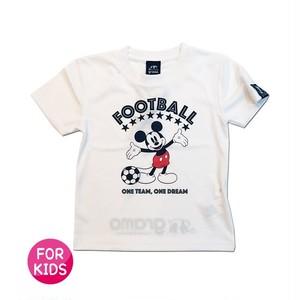 Mickey Mouse コラボ プラシャツ gramo「ONE TEAM」(ホワイト/P-048) ※120・140cmサイズ
