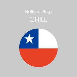 円形国旗ステッカー「チリ」
