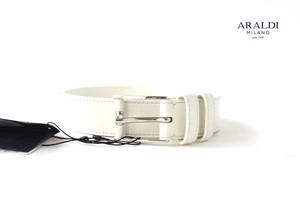アラルディ|ARALDI 1930|グレインレザーベルト|ホワイト|80