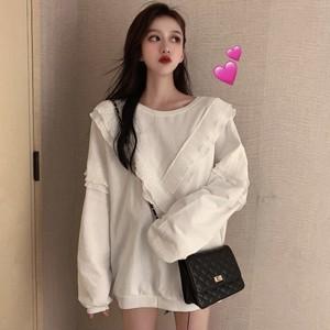 【トップス】chic可愛い韓国風スウィート切り替え配色パーカー23038054