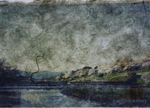 Shunsai Yonemura's artwork 鴨川、京都 Kamogawa river, Kyoto
