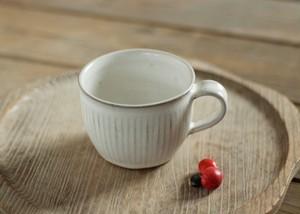 白釉コーヒーカップ(鎬)