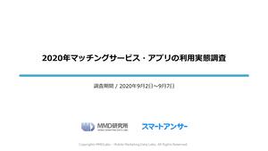 2020年マッチングサービス・アプリの利用実態調査