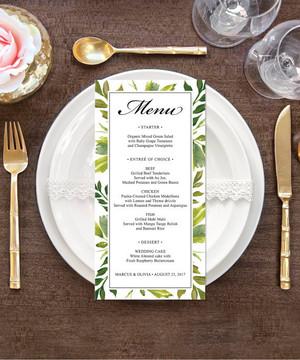 【Simple Greens】ゲストが何名でもこの値段♥︎自分で作る海外風ウェディングメニュー表キット│結婚式