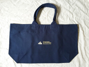 large zip tote【navy】