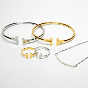 【T letter】 Ring & Bangle & Necklaceセット