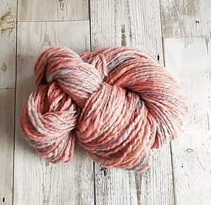 手染め、手紡ぎ糸 レインボー染 ポロワス 72g