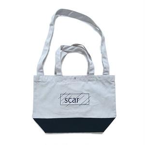 scar /////// OG 2WAY TOTE BAG (Grey/Navy)