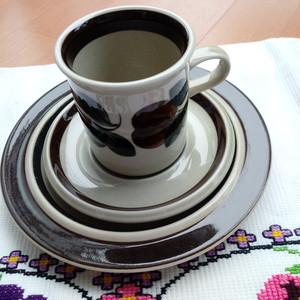 ARABIA/アラビア ルイヤ カップ&ソーサーとケーキ皿のセット