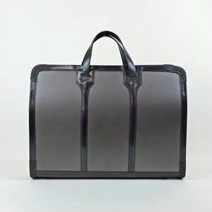 【カーボン×牛革】スクエアビジネスバッグ<BLACK> ドライカーボン 牛革 ビジネスバッグ 軽い A4収納 MadeinJAPAN W1001