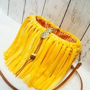 フリンジミニポシェット orange pineapple