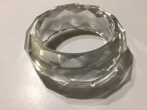 Vintage lucite clear bangle ( ヴィンテージ  ルーサイト クリア バングル )
