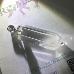 ホワイトファントムポイント水晶ペンダントトップ
