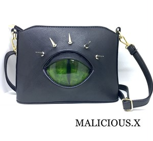 cat eye shoulder  bag / green