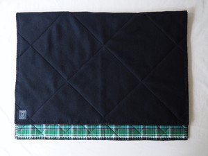 FUJITO Holiday Collection Directors Limited Blanket Black/Green Check